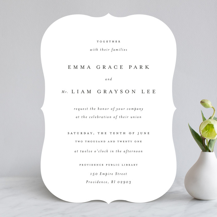 """A Thousand Years"" - Wedding Invitations in Classic White by Design Lotus."