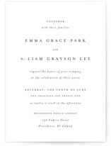 This is a grey wedding invitation by Design Lotus called A Thousand Years with standard printing on signature in standard.