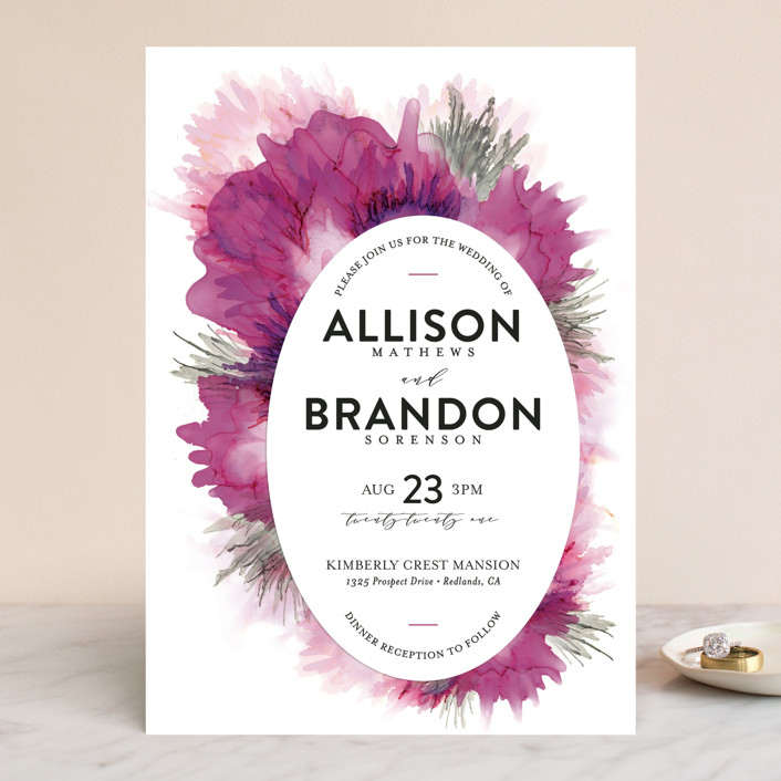"""Ethosien"" - Wedding Invitations in Majestic by GeekInk Design."