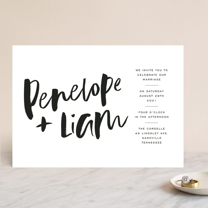 """Love Actually"" - Wedding Invitations in Onyx by Design Lotus."