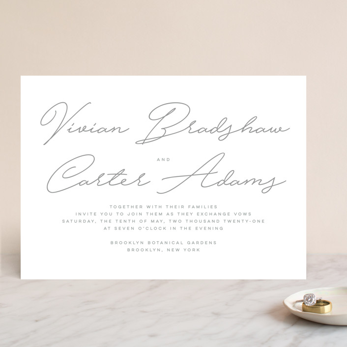 """""""Brooklyn"""" - Wedding Invitations in Cement by Lauren Chism."""