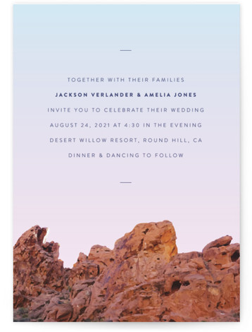 Desert Rocks Wedding Invitations