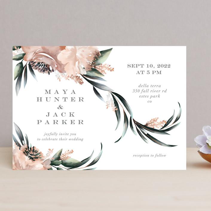 """Maya Rustica"" - Wedding Invitations in Rose by Petra Kern."