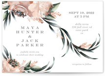 This is a green wedding invitation by Petra Kern called Maya Rustica with standard printing on signature in standard.