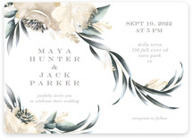This is a yellow wedding invitation by Petra Kern called Maya Rustica with standard printing on signature in standard.