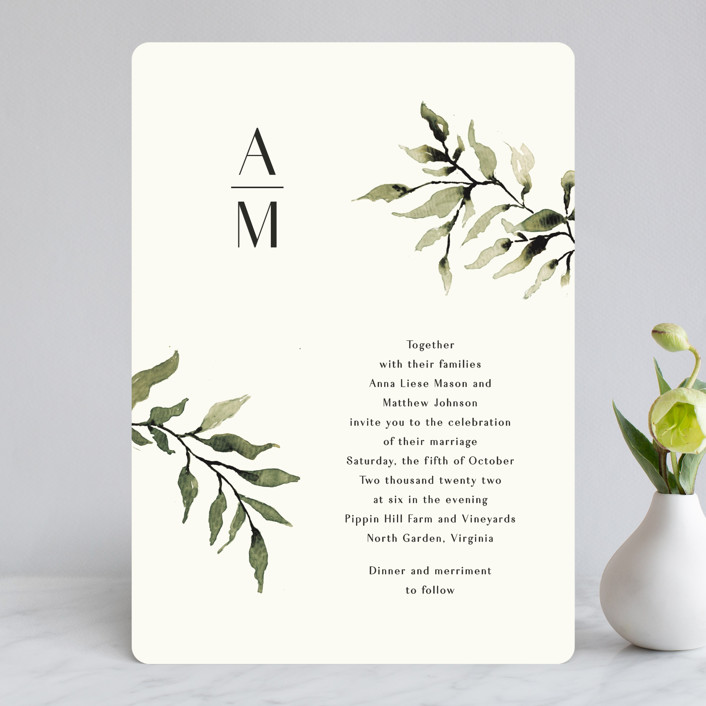 """""""Rural Romance"""" - Wedding Invitations in Leaf by Chris Griffith."""