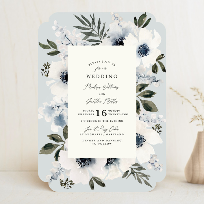 """""""Nantucket Romance"""" - Wedding Invitations in Marine by Chris Griffith."""