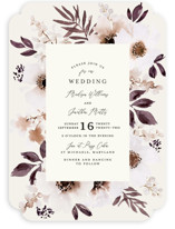 This is a orange wedding invitation by Chris Griffith called Nantucket Romance with standard printing on signature in standard.