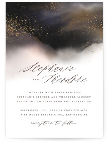 This is a grey wedding invitation by iamtanya called Enchantment with standard printing on signature in standard.
