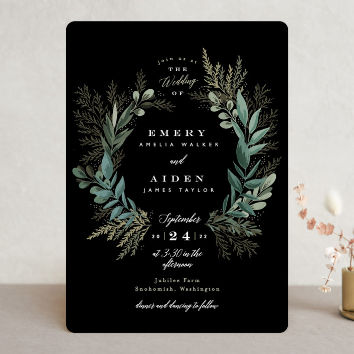 """""""Forest Crest"""" - Wedding Invitations in Obsidian by Alethea and Ruth."""
