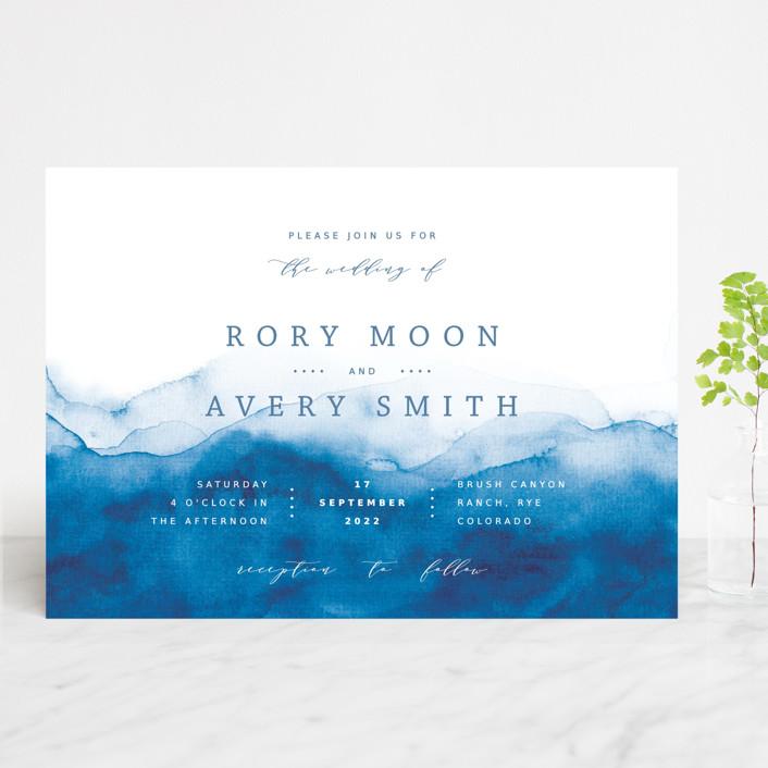 """""""Watercolor waves"""" - Wedding Invitations in Ocean by Yuliya Evseeva."""
