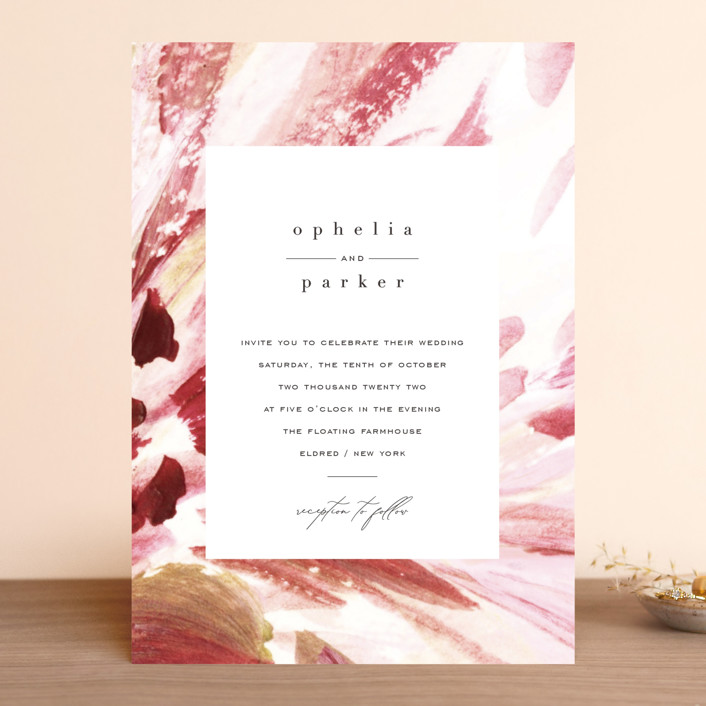 """pollen"" - Wedding Invitations in Petal by Robin Ott."