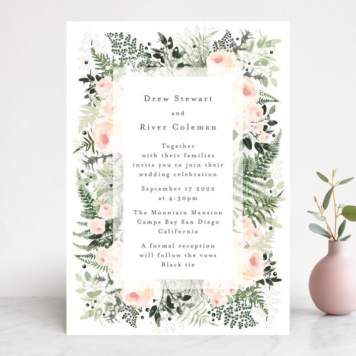 """""""beautiful posies"""" - Wedding Invitations in Fresh by Phrosne Ras."""
