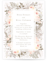 This is a orange wedding invitation by Phrosne Ras called beautiful posies with standard printing on signature in standard.