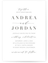 This is a grey wedding invitation by Amy Ngo called Simplicity with standard printing on signature in standard.