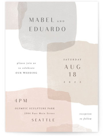 This is a brown wedding invitation by Hooray Creative called Sculpture Garden with standard printing on signature in standard.