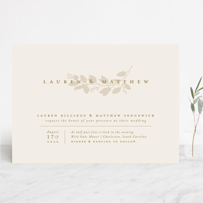 """""""Falling Branch"""" - Wedding Invitations in Eucalyptus by Amy Kross."""