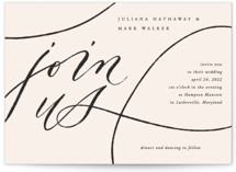 This is a beige wedding invitation by Erin L. Wilson called Fountain Pen with standard printing on signature in standard.