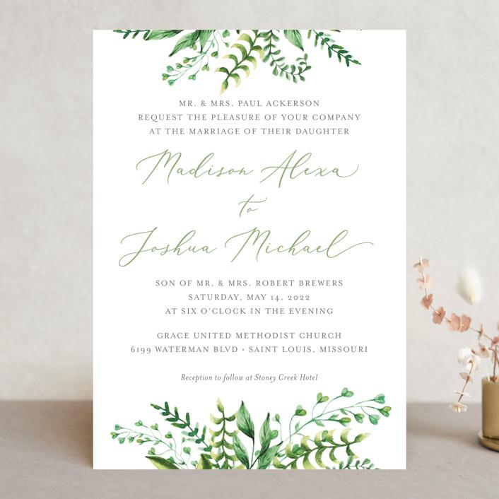 """Bright & Green"" - Wedding Invitations in Spring by Amanda Day."
