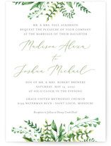 This is a green wedding invitation by Amanda Day called Bright & Green with standard printing on signature in standard.