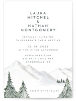 This is a grey wedding invitation by Petra Kern called Lovely Winter Land with standard printing on signature in standard.