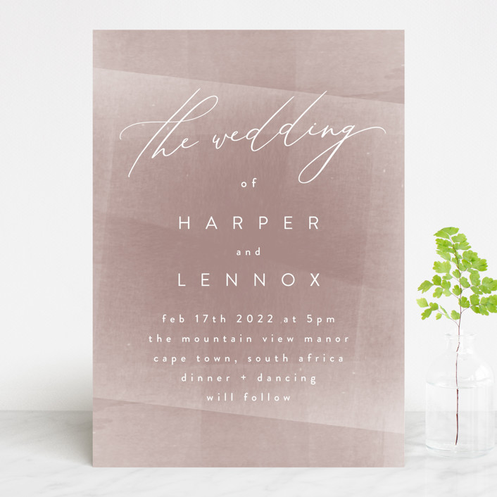 """plain paint"" - Modern Wedding Invitations in Taupe by Phrosne Ras."
