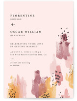 This is a pink wedding invitation by Lisa Fee Paura called Mod Brush with standard printing on signature in standard.