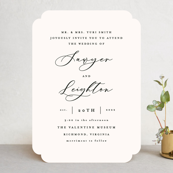 """Eternal"" - Wedding Invitations in Ecru by Carly Reed Walker."