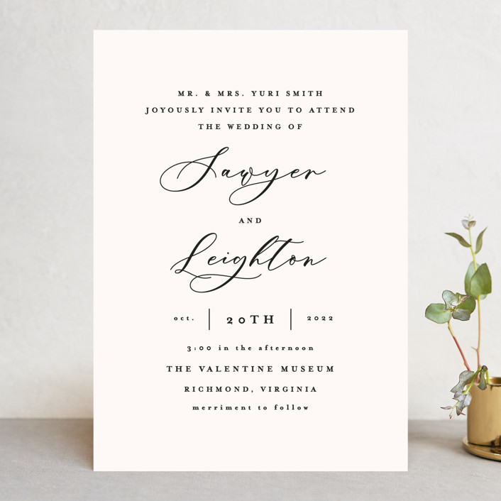 """Eternal"" - Wedding Invitations in Ecru by carly reed walker."