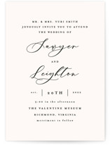 This is a black wedding invitation by carly reed walker called Eternal with standard printing on signature in standard.