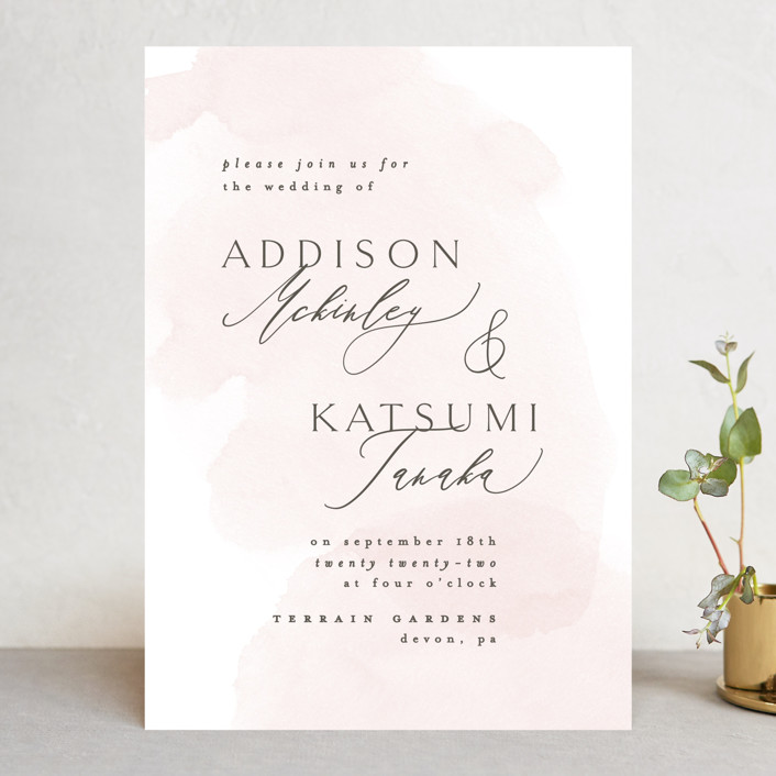 """""""Softly Layered"""" - Wedding Invitations in Blush by Everett Paper Goods."""
