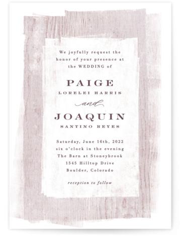 Barnwood Wedding Invitations
