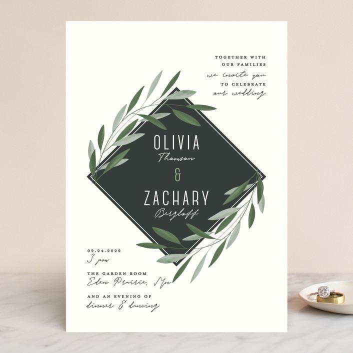 """Oliviers"" - Wedding Invitations in Spring by Gwen Bedat."