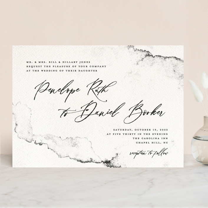 """""""Inky"""" - Modern Wedding Invitations in Ink by Pink House Press."""