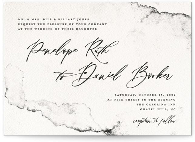 Inky Wedding Invitations