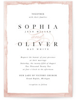 This is a pink wedding invitation by Pixel and Hank called First Love with standard printing on signature in standard.