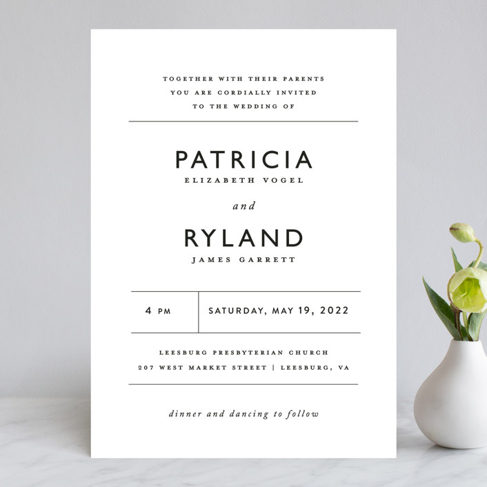 """Ordered Grace"" - Wedding Invitations in Snow by That Girl Press."