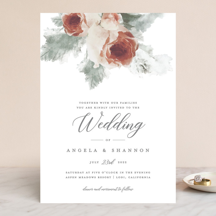 """rose drop"" - Wedding Invitations in Rose by Cassandra Imagines."