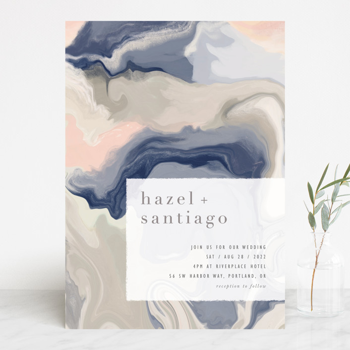 """marble majesty"" - Wedding Invitations in Mountain Range by Hooray Creative."