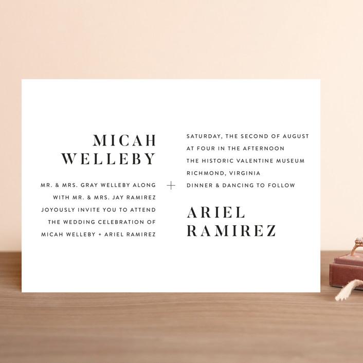 """Harmonie"" - Wedding Invitations in Cloud by carly reed walker."