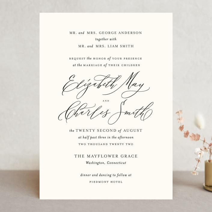 """Elysium"" - Wedding Invitations in Linen by Design Lotus."