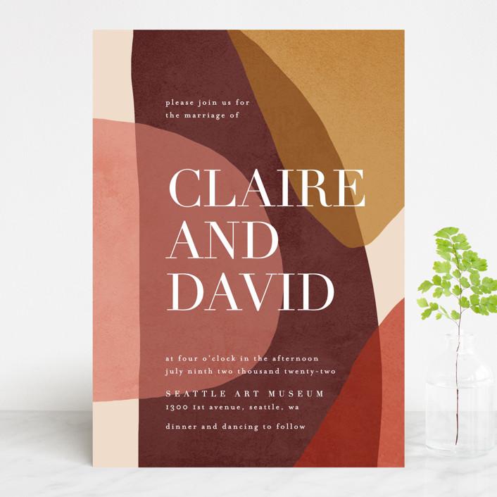 """""""Galeria"""" - Modern Wedding Invitations in Autumn Desert by Kelly Schmidt."""