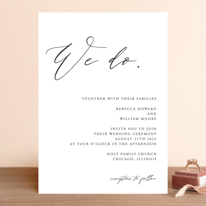 """We Do"" - Wedding Invitations in Ink by lulu and isabelle."