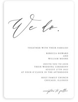 This is a black and white wedding invitation by lulu and isabelle called We Do with standard printing on signature in standard.