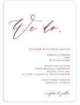 This is a red wedding invitation by lulu and isabelle called We Do with standard printing on signature in standard.