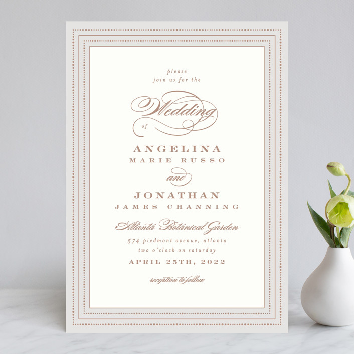 Simply Grand Wedding Invitations By Hooray Creative Minted