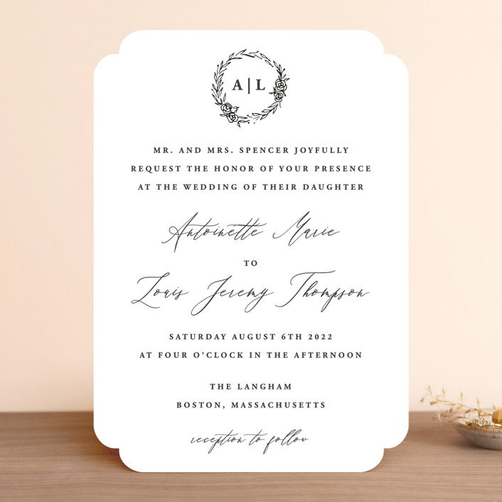 """""""Antoinette"""" - Wedding Invitations in Ivory by lulu and isabelle."""