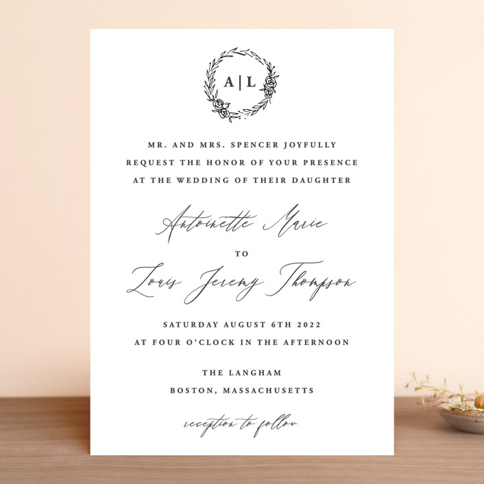 """Antoinette"" - Wedding Invitations in Ivory by lulu and isabelle."