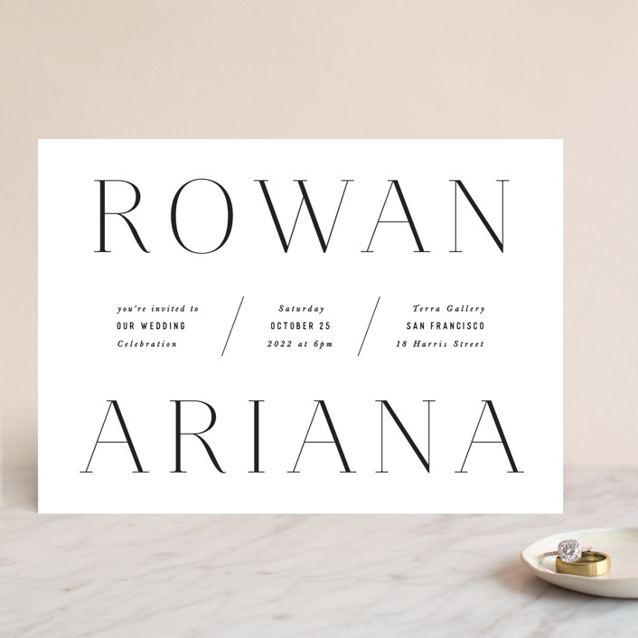 """""""Namely"""" - Wedding Invitations in Pearl by Hooray Creative."""
