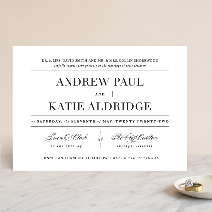 """Typography"" - Wedding Invitations in Pearl by lena barakat."